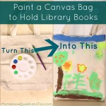 Paint a Canvas Bag to Hold Library Books