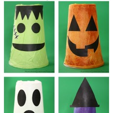Tissue Paper Cups Halloween Craft