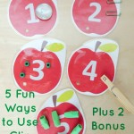 Teaching Numbers with Clip Cards