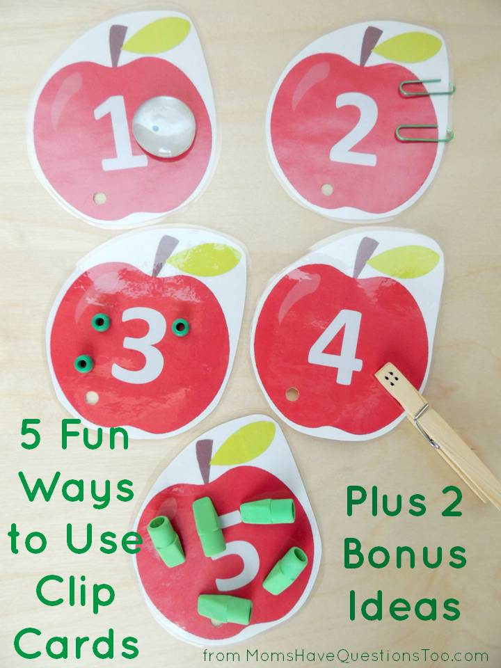 Teaching numbers with clip cards is easy. Check out these 5 fun ways to use clip cards with your toddler or preschooler.